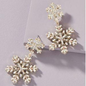 Baublebar Snowflake Drop Earrings Stud Back NWT